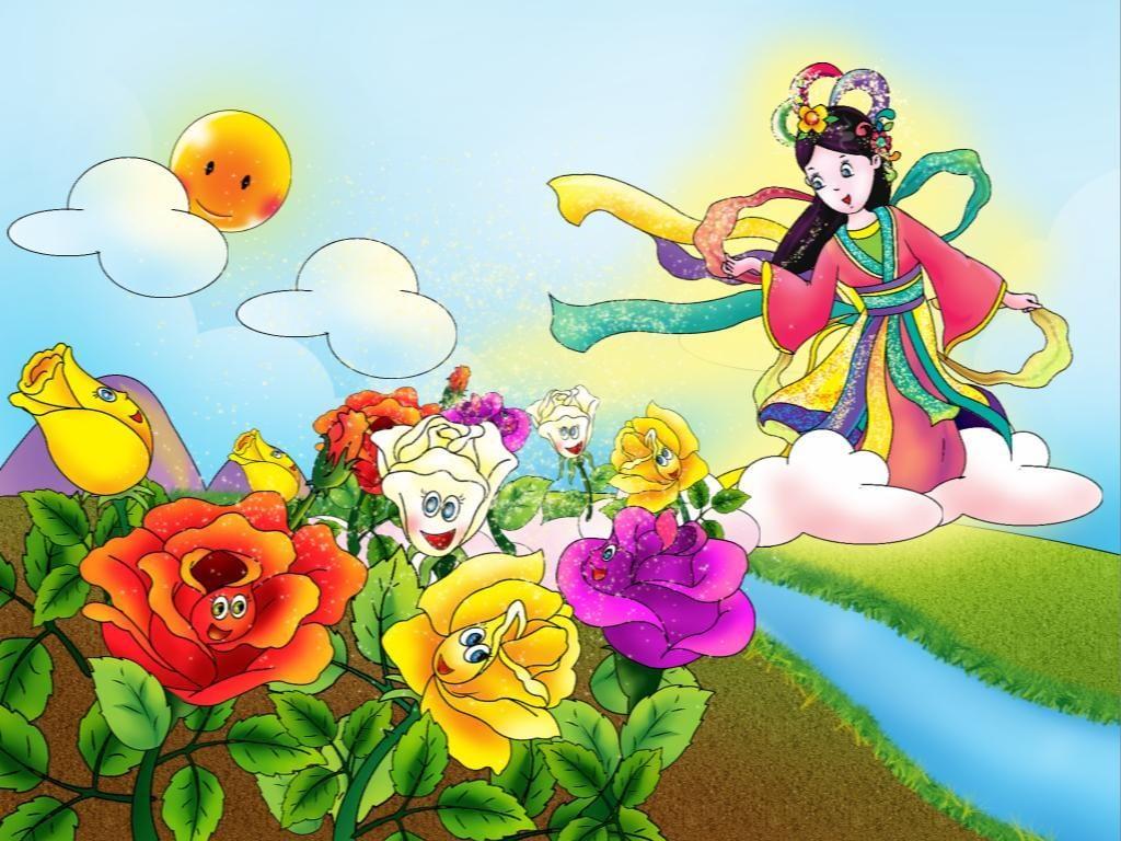 Vẽ tranh minh họa truyện cổ tích - Truyện sự tích hoa hồng