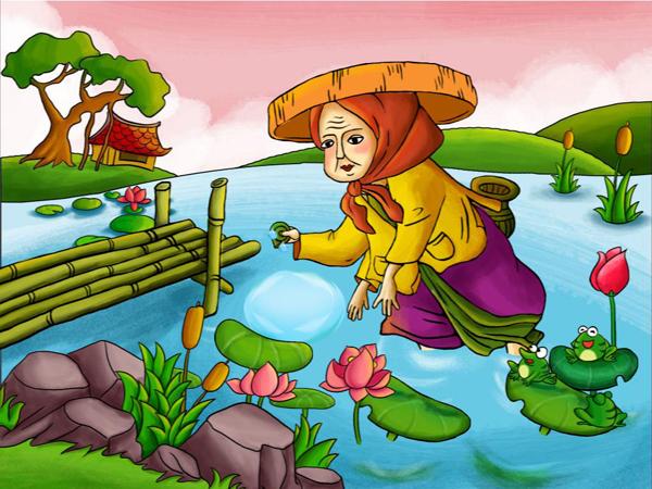 Vẽ tranh minh họa truyện cổ tích Nàng Tiên Ốc