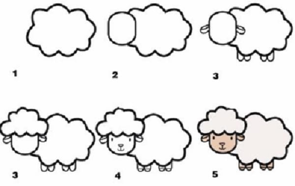 cách vẽ con vật dễ thương