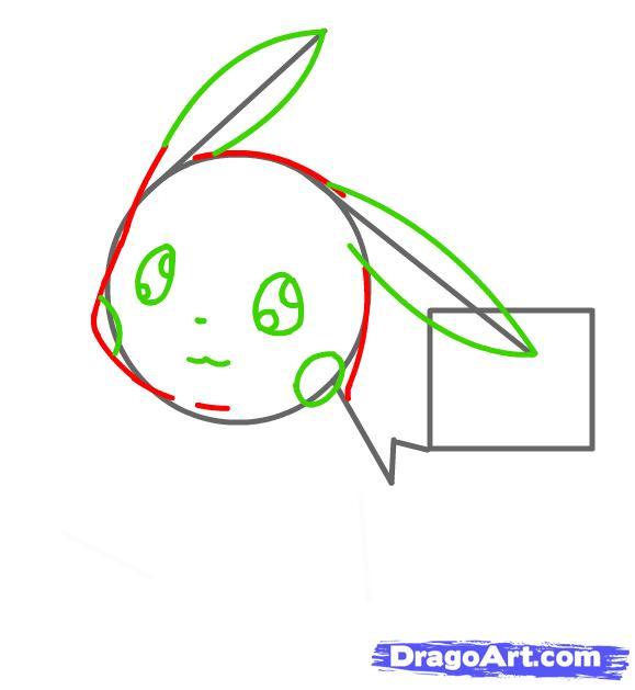 vẽ pokemon pikachu